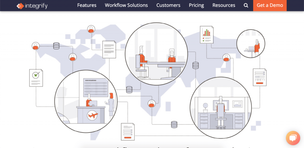 Integrify is a workflow automation software that allows users to create dynamic workflows and effective web forms.