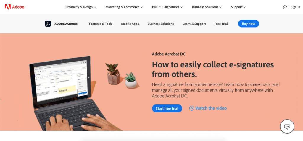 Adobe has multiple options to create and manage digital signatures.