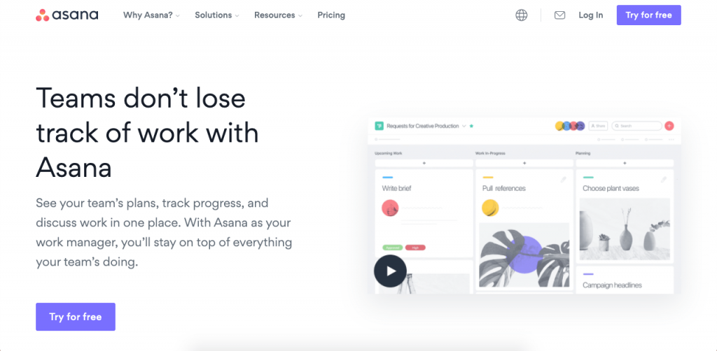 Asana is a popular online task and team manager.