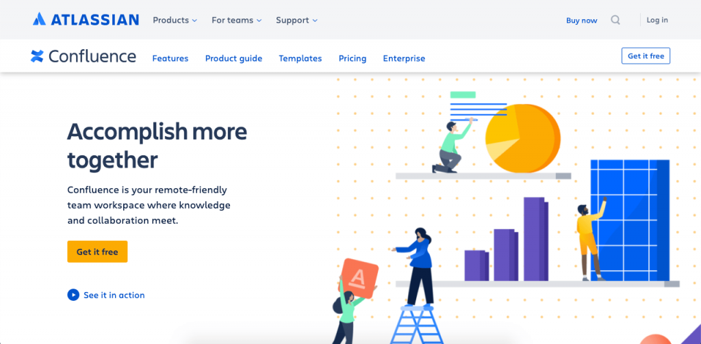 Atlassian Confluence lets you create, store, and share your process in the form of PDFs, docs, images, and much more.