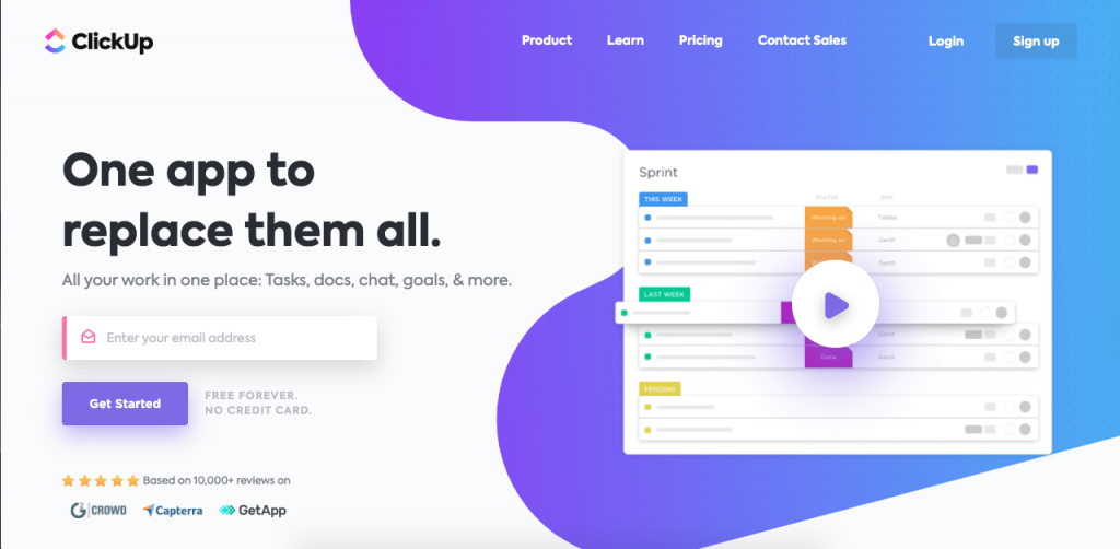 ClickUp is a project management software with great customization capabilities.