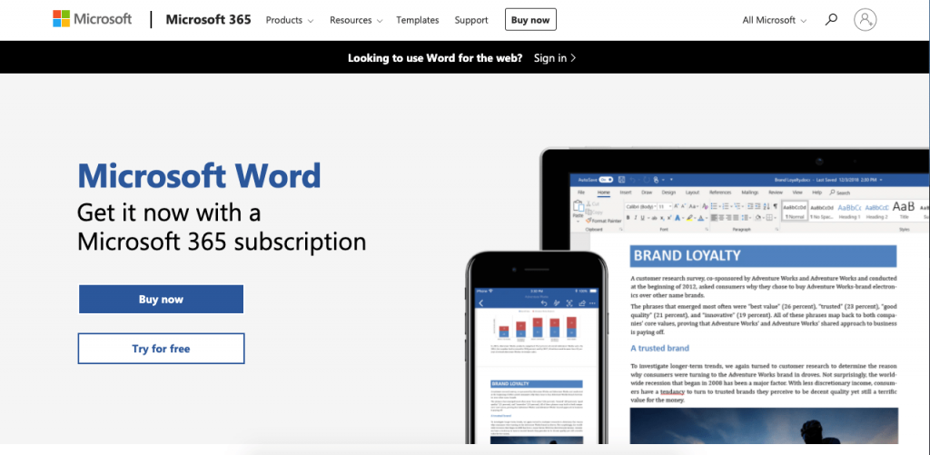 Microsoft Word is now available online.