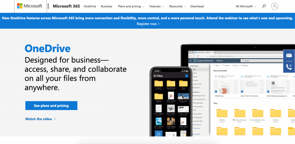 OneDrive for Business is Microsoft's file sharing platform with powerful capabilities.