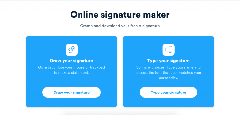 Signaturely allows you to create your own signatures online