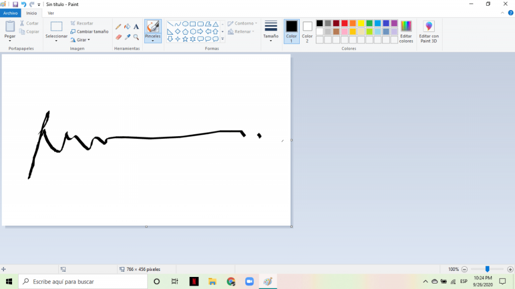 Microsoft Paint is a free tool that you can use to create a valid digital signature.