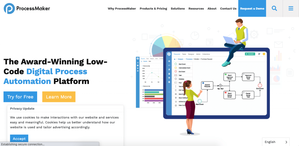 ProcessMaker is an open-source software that can help you to document your process through a low-code business process management platform.