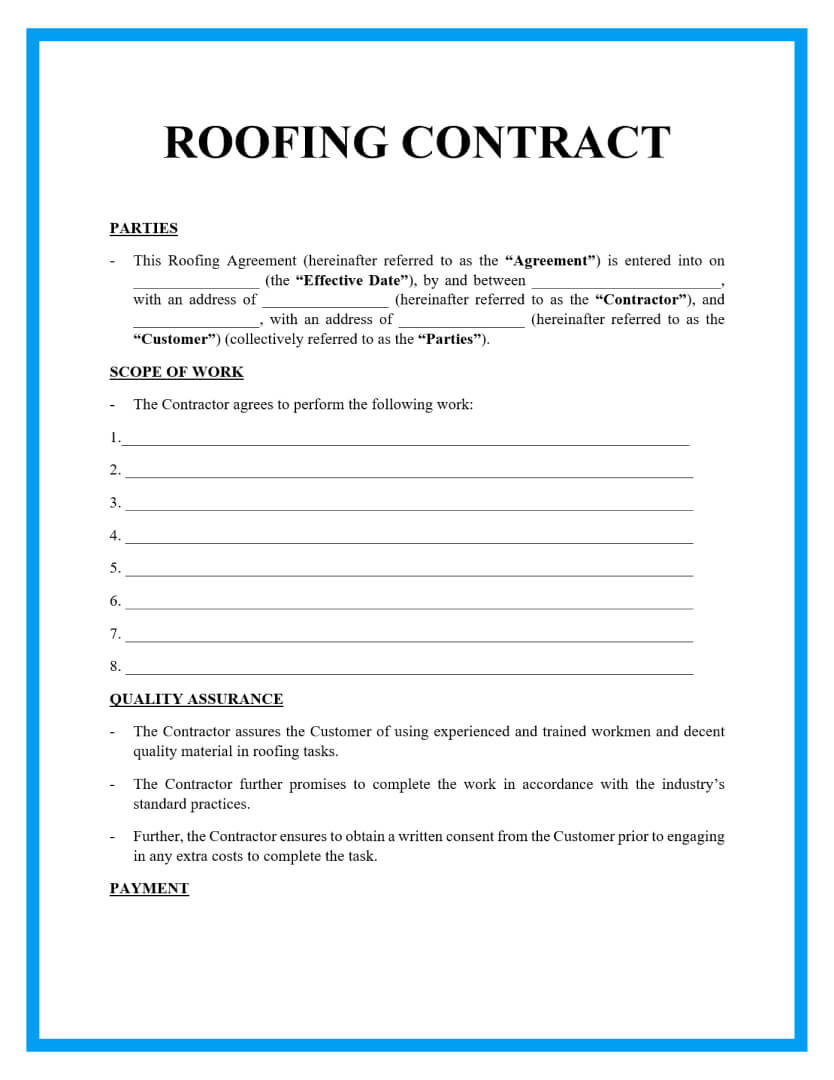 roofing contract template page1