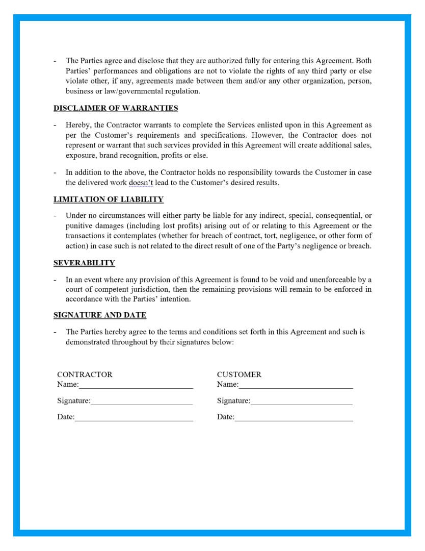 roofing contract template page3