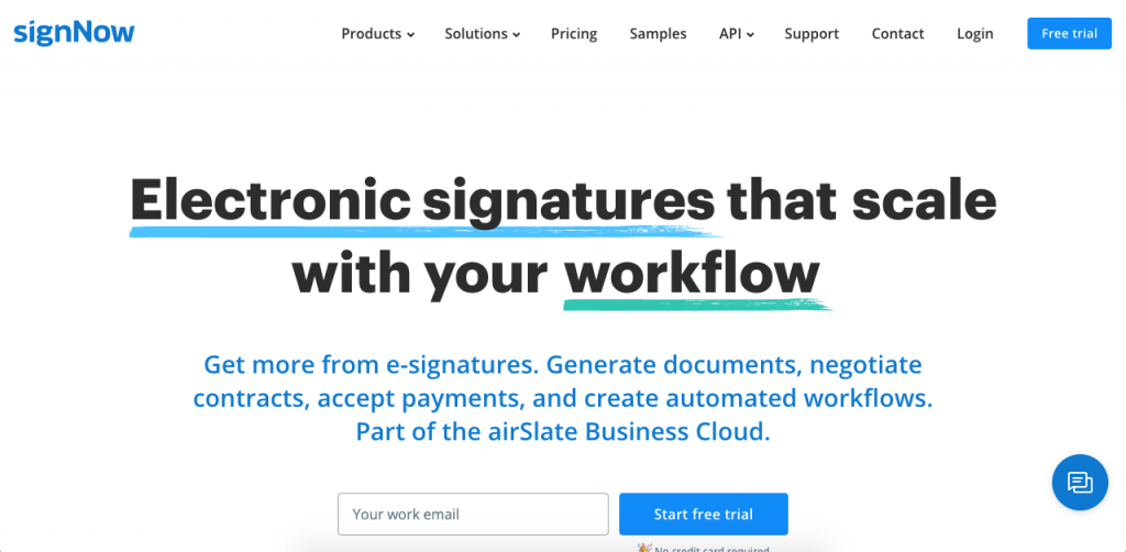 Award-winning SignNow is an affordable platform focused on friendly software for small businesses.