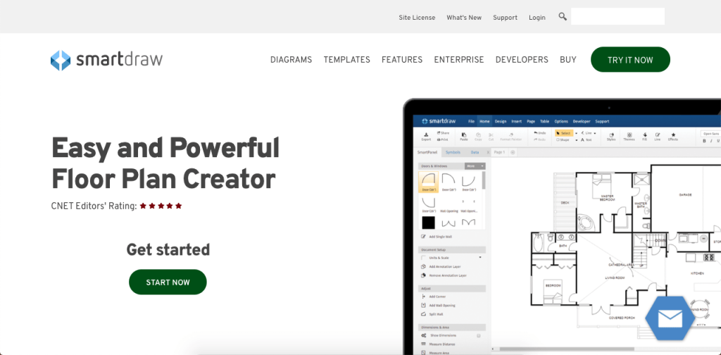 SmartDraw is a versatile visual process mapping tool with powerful integrations.