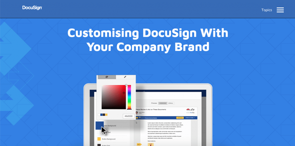 SignNow has a slight edge over DocuSign because they provide far more options for company branding