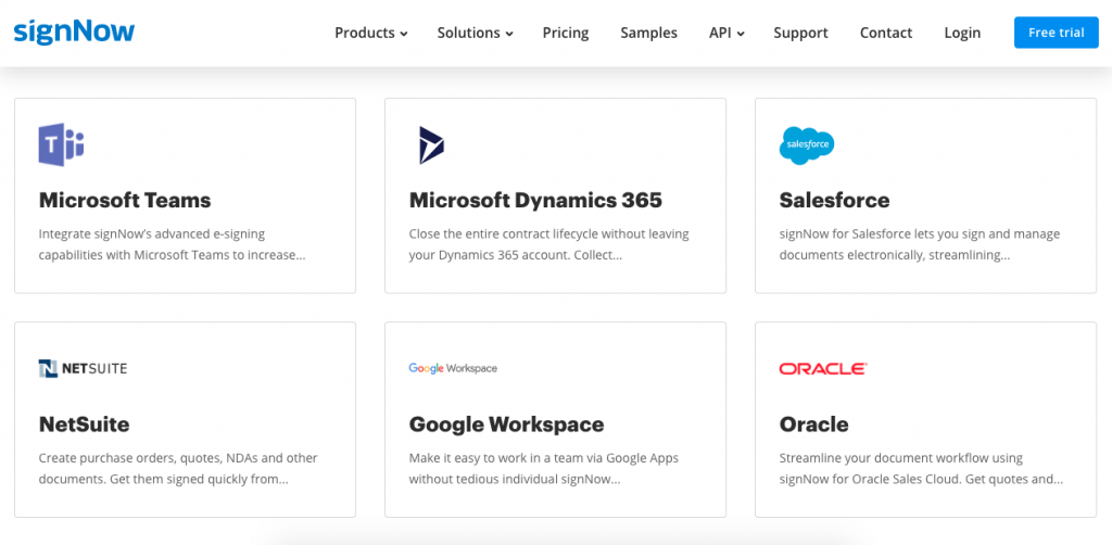 SignNow has native integrations with over 20 platforms, and many more using Zapier.