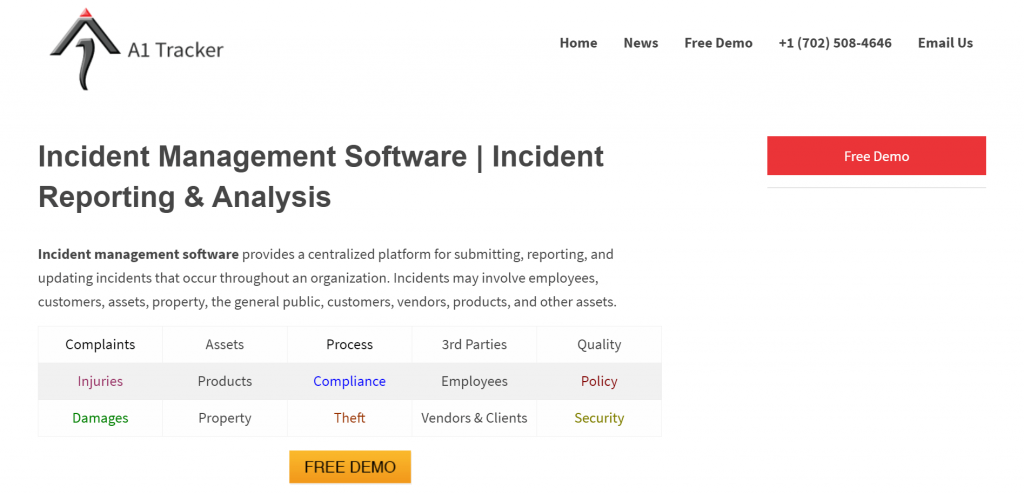 A1tracker is an incident management software that makes the documentation of incidents easy.