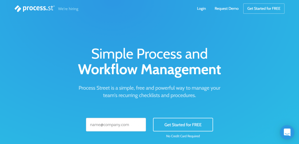 Process.st is a business process management tool that allows businesses to create, track, and manage workflows