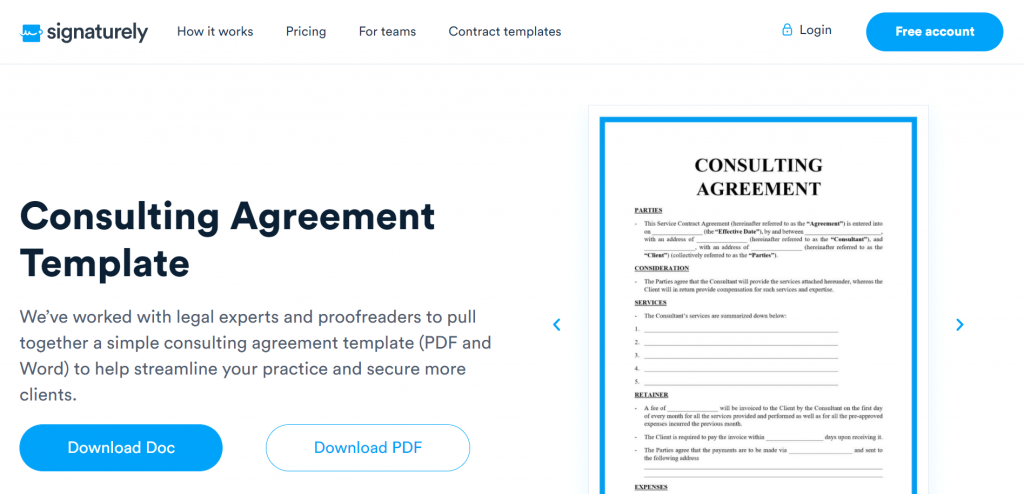 The free Consulting Agreement template will provide a way for you to effectively monetize your services as a consultant