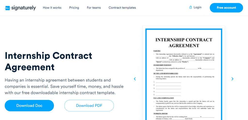 Thinking about hiring interns? Use Signaturely's free Internship Contract template—it covers everything you need.