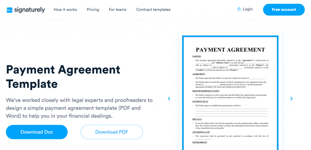 A payment agreement is a legally binding contract that outlines payment terms between a lender and payer