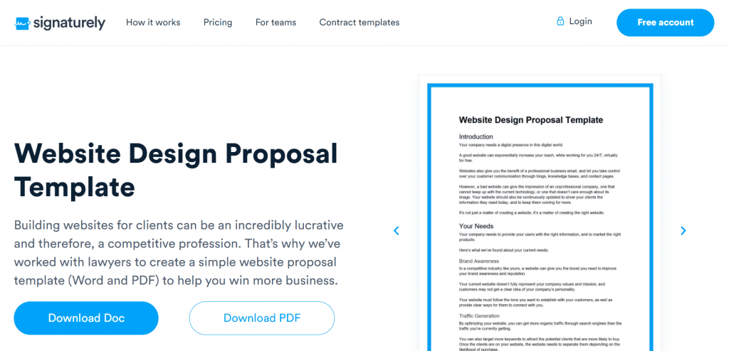 Are you a website builder or developer? If so, the free Website Design Proposal template is for you.