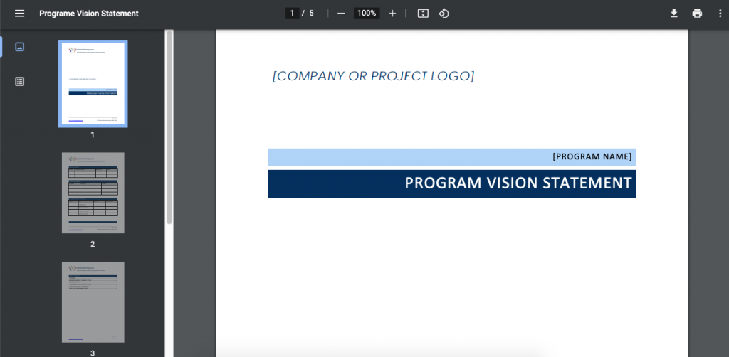 The company vision statement contains the company's hopes and dreams.