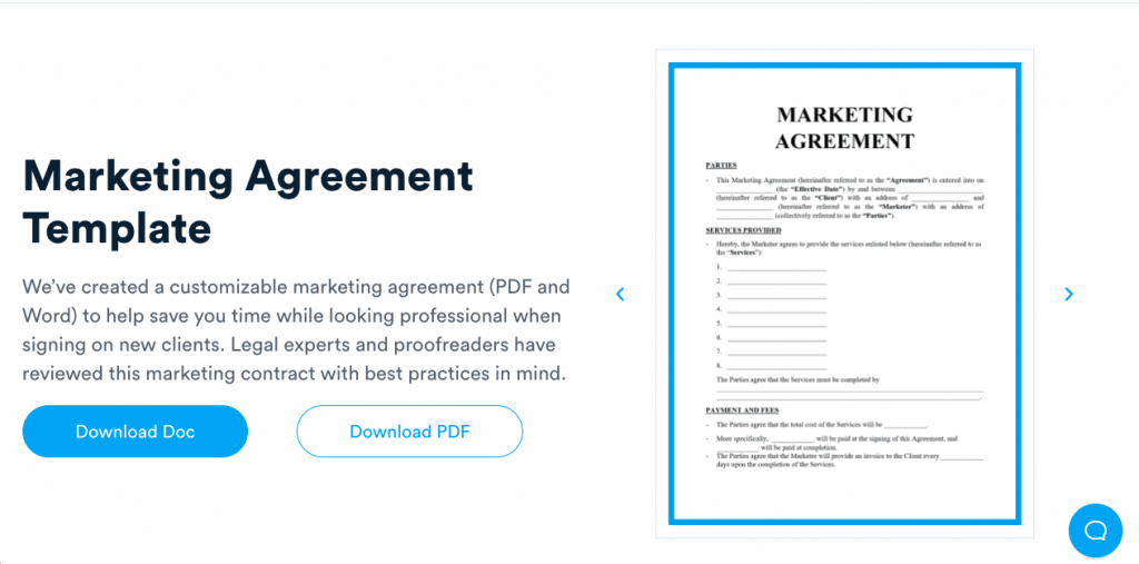 A marketing agreement is a vital document for any marketer