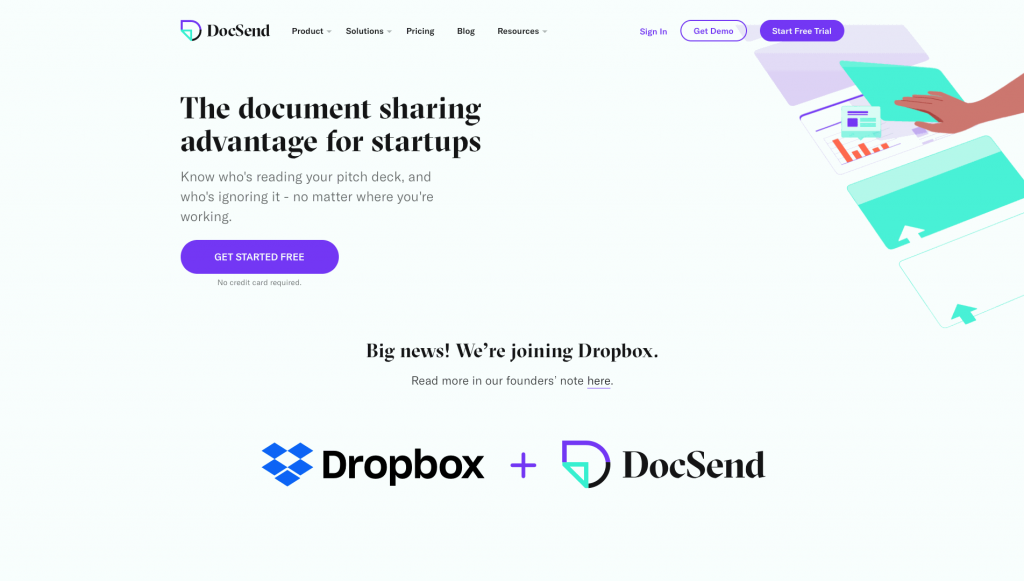 DocSend is a platform made for content management and tracking
