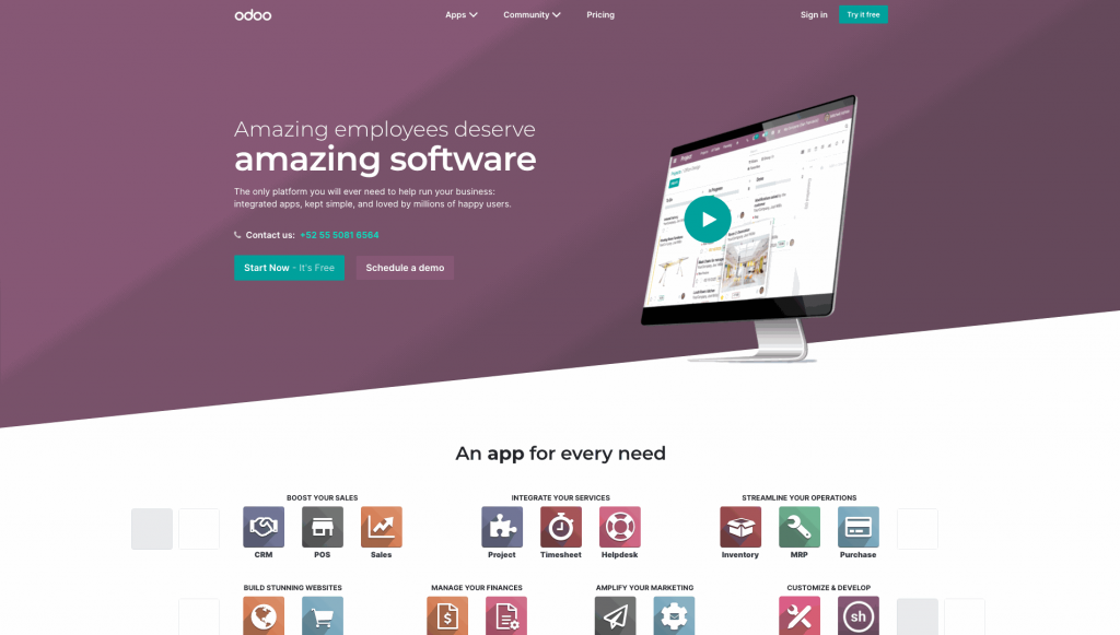 Odoo has a wide variety of apps for multiple needs, it's not surprising to see its quotation software