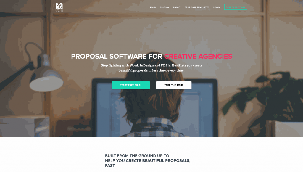 Nusii is an online quoting platform  tailored to creative businesses