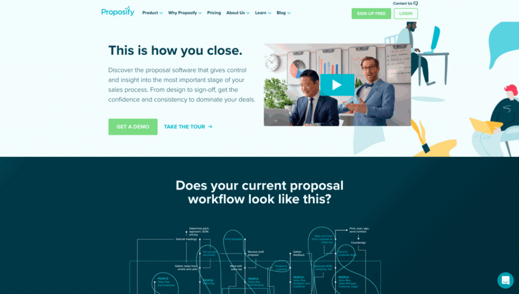 With Proposify, you can build memorable contracts and quotes without any design knowledge.