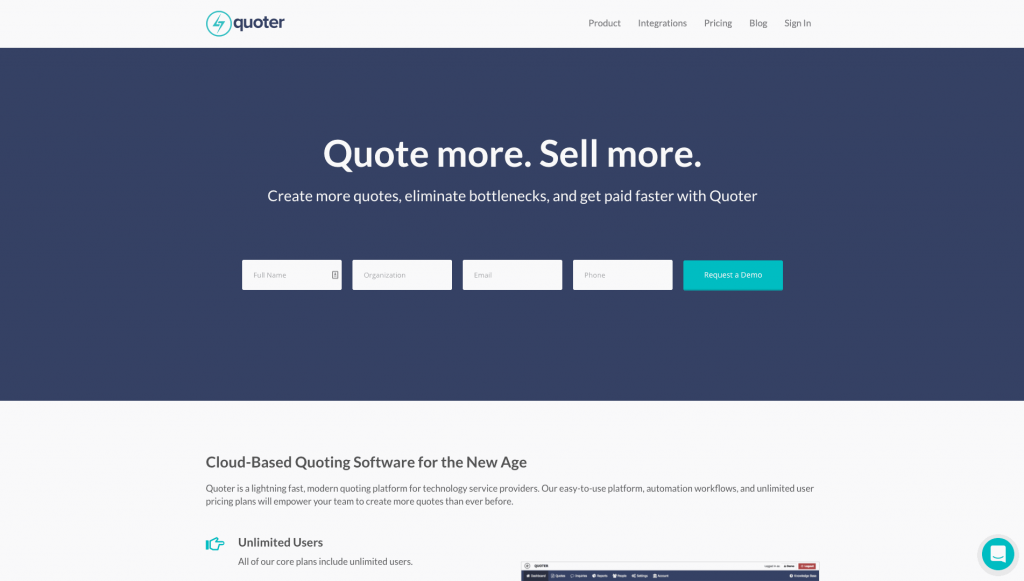 Quoter is a platform developed exclusively for users to develop and send quotes