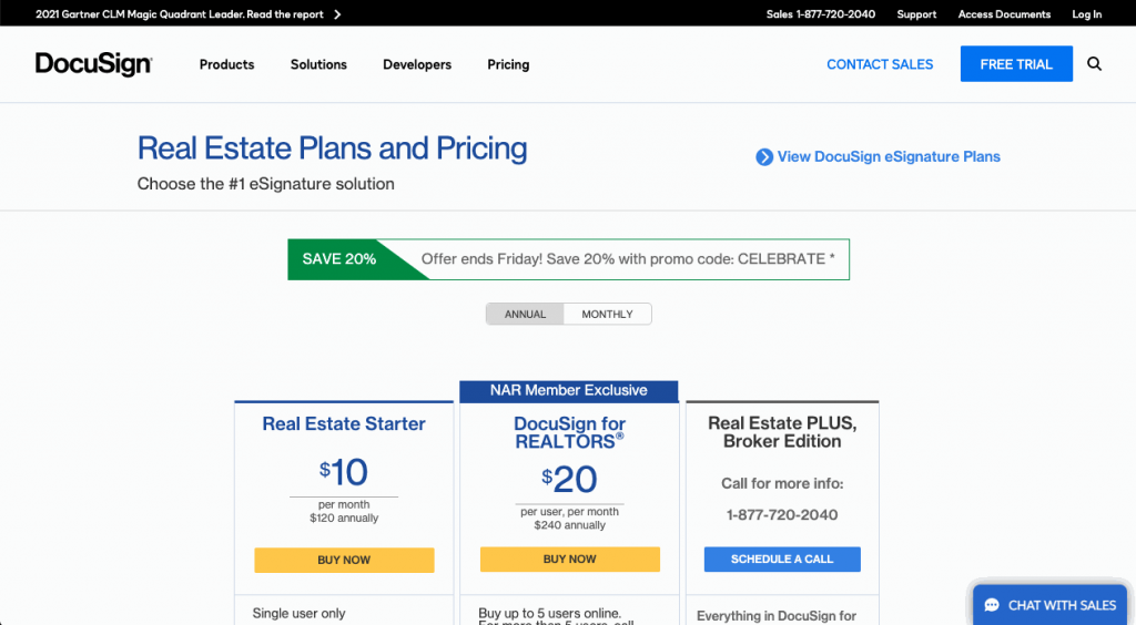 Docusign offers a cheaper real estate solution compared to Dotloop