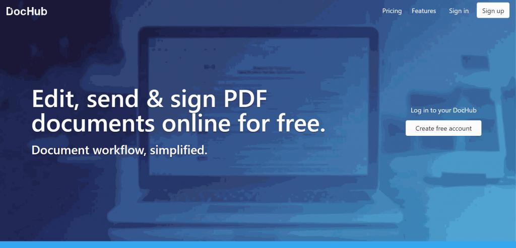 DocHub is a PDF document signing platform