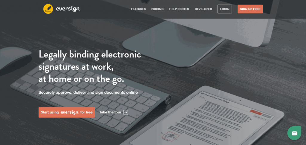 Eversign is an electronic signing solution