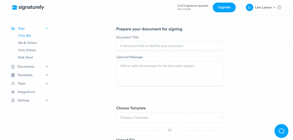 Prepare your document for signing