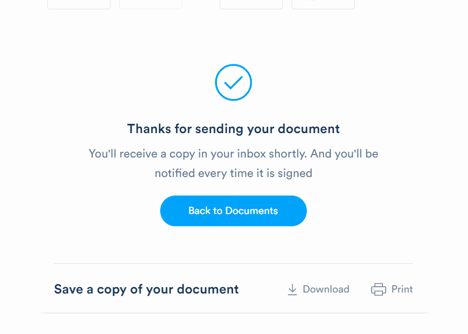 Send your document