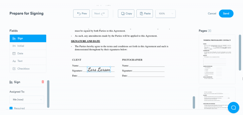 Add your signature and other necessary pieces of information to the document.
