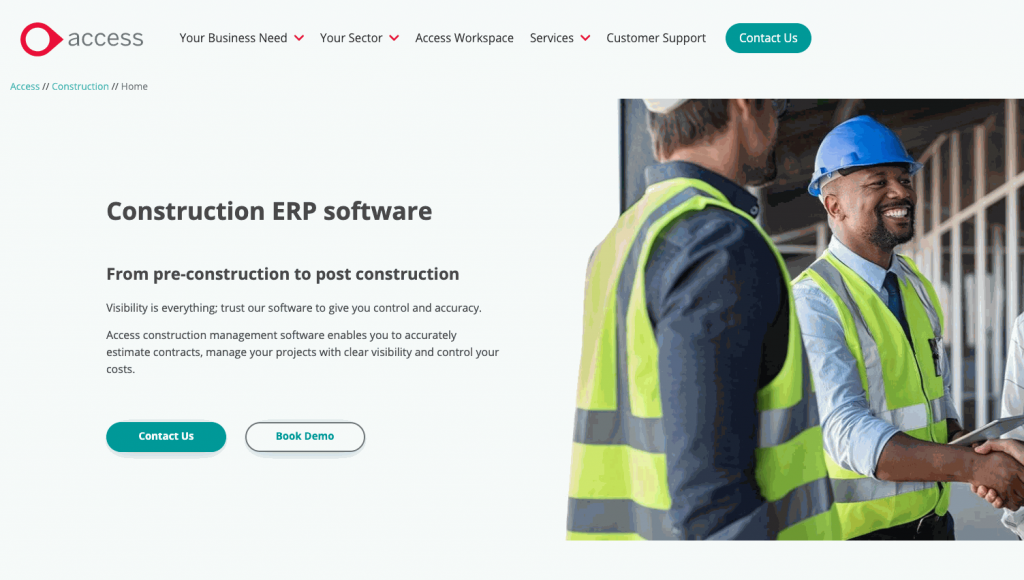 Access Construction ERP comprises their award-winning Enterprise Resource Planning EasyBuild and ConQuest Estimating.