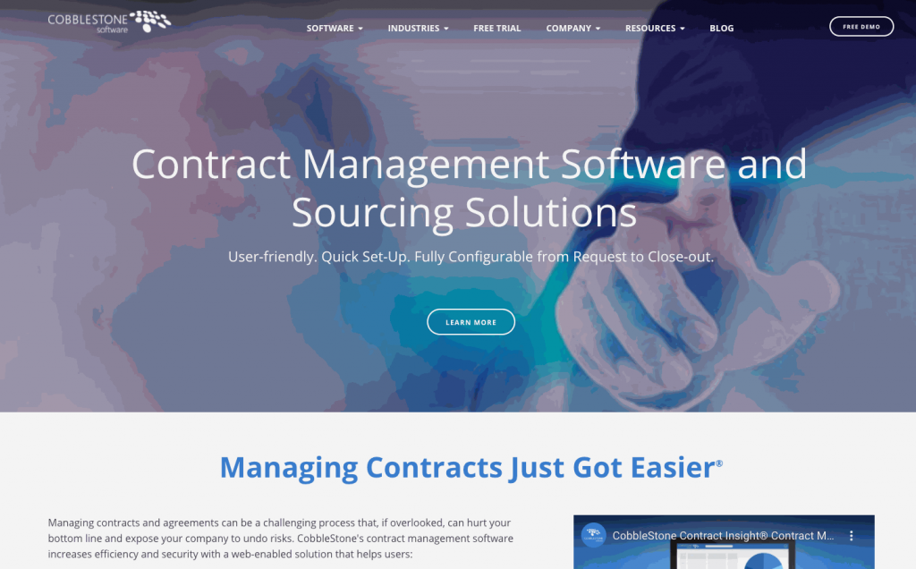 CobbleStone provides contract, vendor, and e-procurement management software