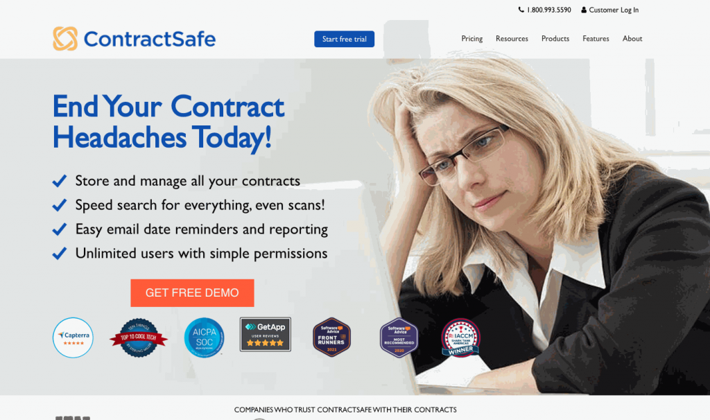 ContractSafe searches through the actual contract, and all the entered information related to a contract.