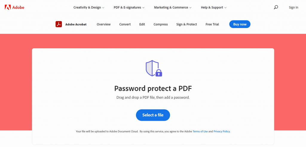 How to protecta PDF using a password