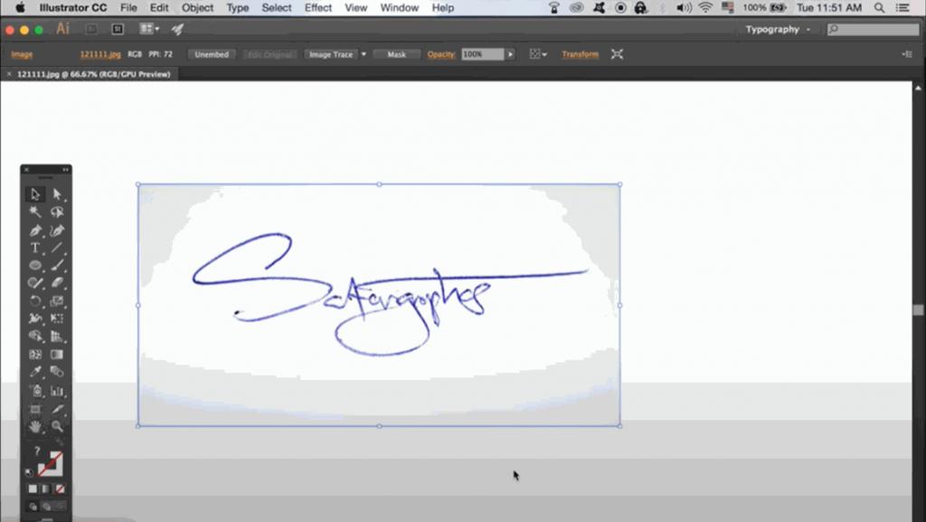 Live trace your signature on Adobe Illustrator