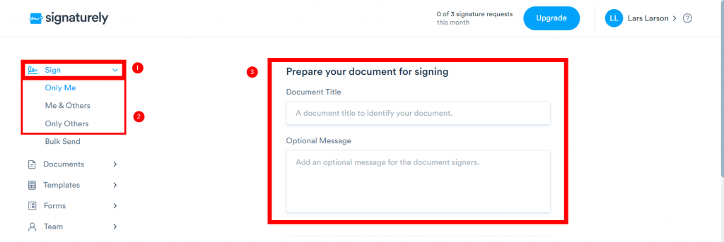 Prepare your signaturely document for signing