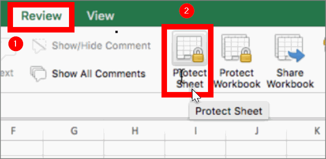 Protect excel sheet
